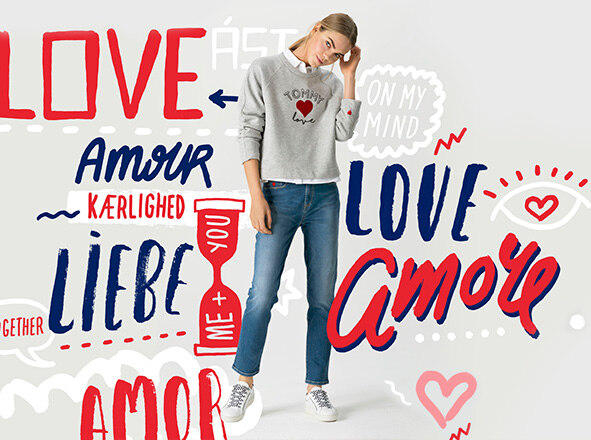 TOMMY HILFIGER WOMEN<br> TOMMY X LOVE  온라인 단독 캡슐 상품