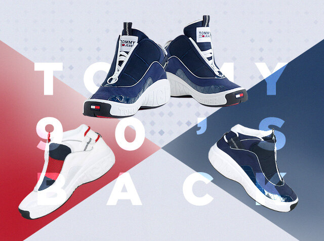 Tommy Footwear <br>#New #Hiptro #Limited Edition <br> [단독] 아이코닉 레트로 스니커즈
