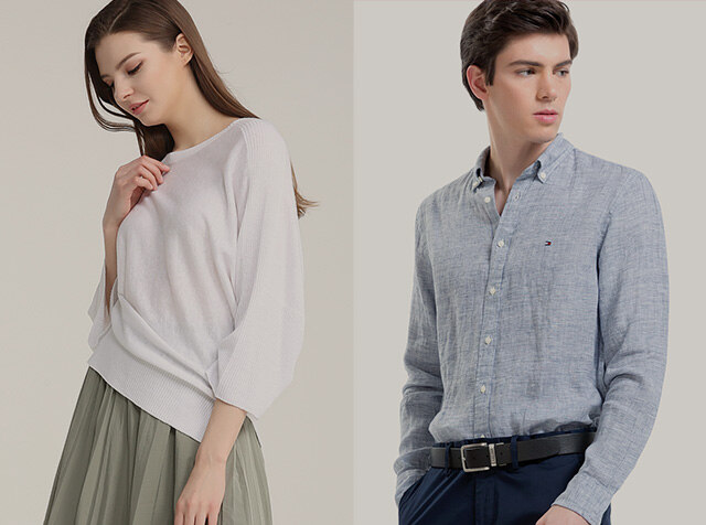 TOMMY MEN & DKNY<br>ALL ABOUT LINEN