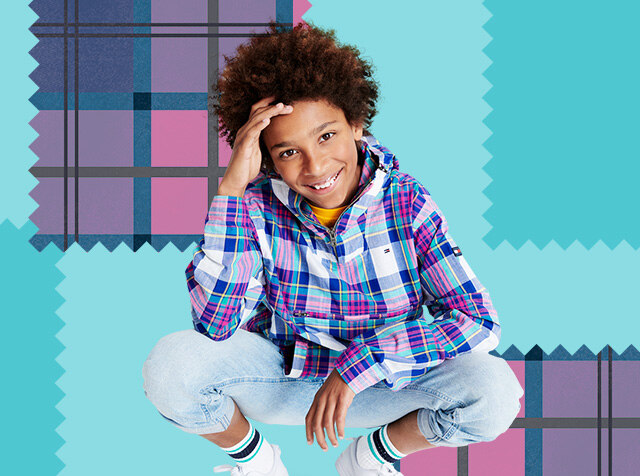 TOMMY HILFIGER KIDS<br> LIMITED EDITIONS<br> MADRAS CHECK ITEMS