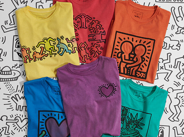NEW ARRIVAL<br>AMERICAN EAGLE<br>KEITH HARING